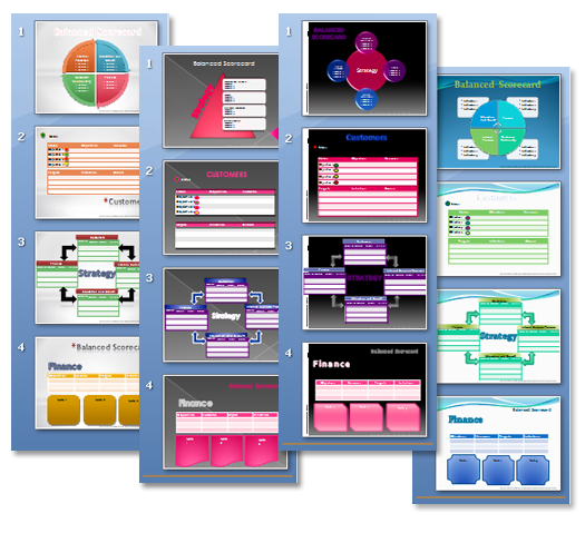 Balanced scorecard templates download ready to use visually balanced scorecard template 02 wajeb Images
